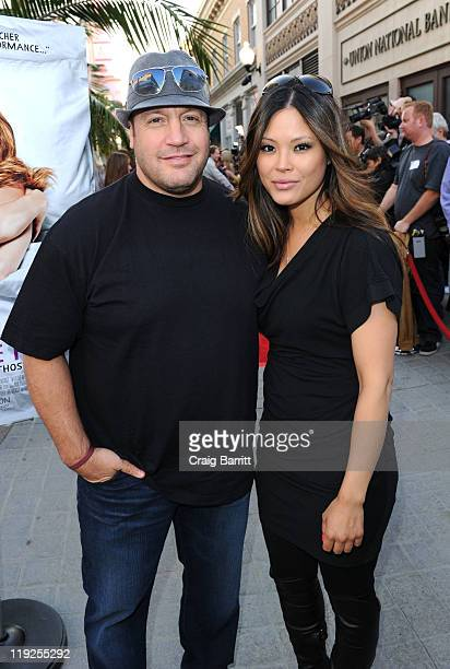 Kevin James and his wife Steffiana De La Cruz attend the A Little Help Los Angeles Premiere at Sony Pictures Studios on July 14 2011 in Culver City...