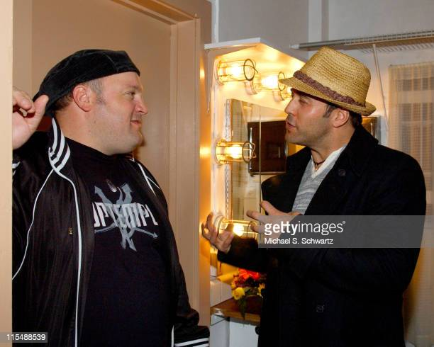 Kevin James and Jeremy Piven during CAAF - A Night of Comedy - April 14, 2007 at The Wilshire Theatre in Beverly Hills, California, United States.