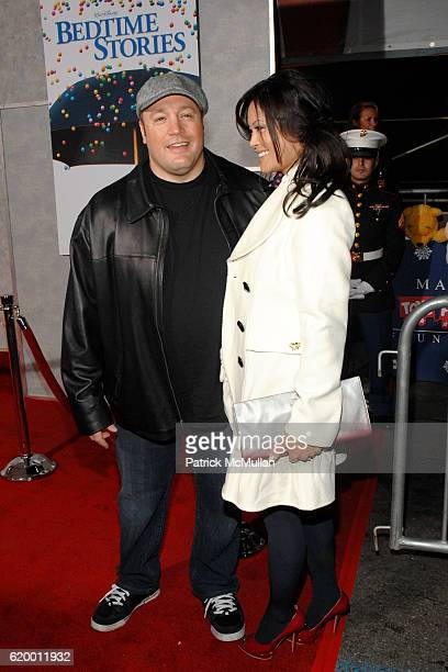 Kevin James and Steffiana De la Cruz attend Bedtime Stories Premiere at El Capitan Theatre on December 18 2008 in Los Angeles Ca