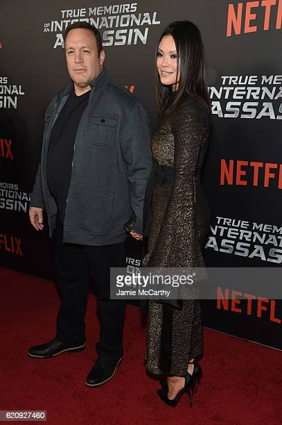 Kevin James and Steffiana de la Cruz attend True Memoirs Of An International Assassin at AMC Lincoln Square Theater on November 3 2016 in New York...