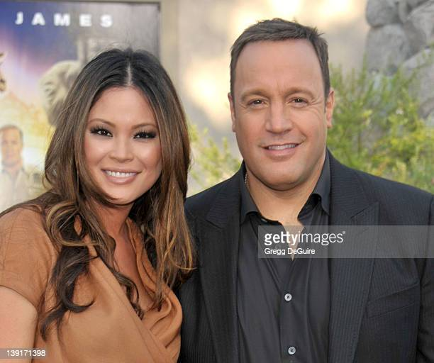 Kevin James and wife Steffiana De La Cruz arrive at the World Premiere of Zookeeper at the Regency Village Theatre on July 6 2011 in Westwood...
