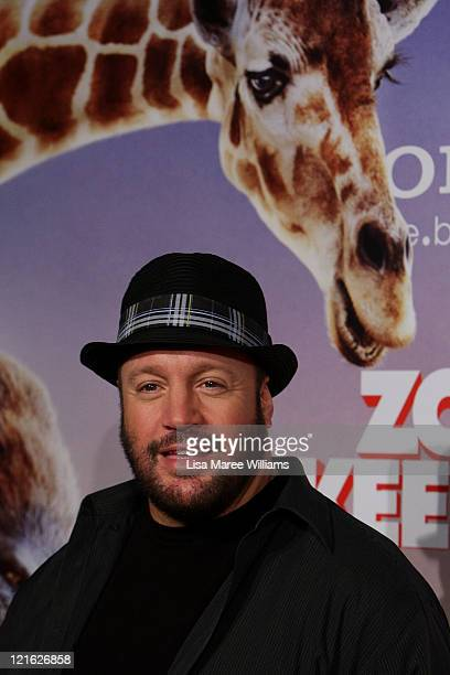 Kevin James arrives at the Zookeeper Australian premiere at Event Cinemas at Westfield Bondi Junction on August 21 2011 in Sydney Australia