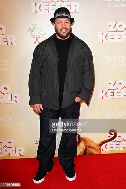 Kevin James arrives at the 'Zookeeper' Australian premiere at Event Cinemas at Westfield Bondi Junction on August 21 2011 in Sydney Australia