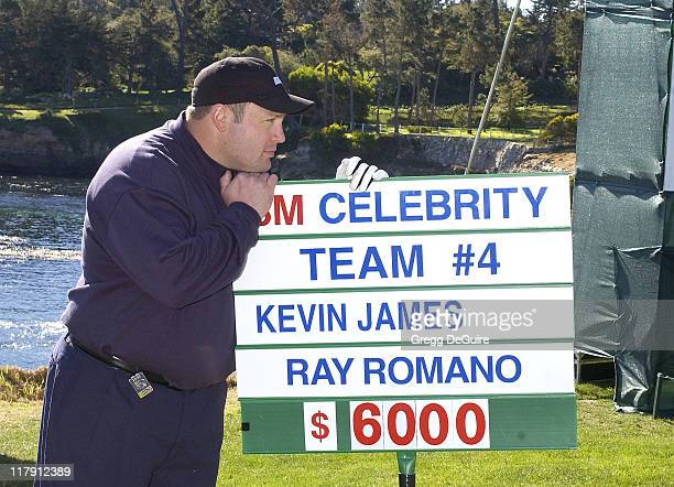 Kevin James during 3M Celebrity Challenge at the AT&T Pebble Beach National Pro-Am at Pebble Beach Golf Links in Carmel, California, United States.