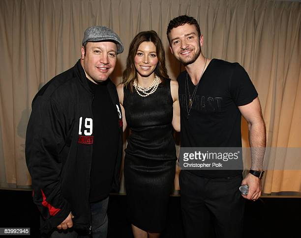 HOLLYWOOD DECEMBER 10 Kevin James Jessica Biel and Justin Timberlake during Jessica Biel Make The Difference Network Partner with Auction Cause to...