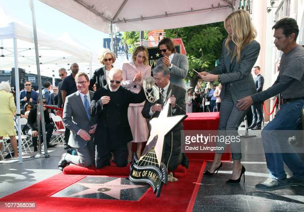 Kevin James Jessica Lange Ryan Murphy Sarah Paulson Hollywood Chamber of Commerce President/CEO Leron Gubler Brad Falchuk and Gwyneth Paltrow attend...