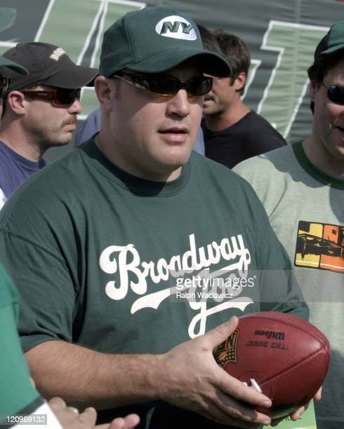 Kevin James prior to the New York Jets 24 to 17 loss to the New England Patriots on September 17 2006 at Giants Stadium in East Rutherford New Jersey