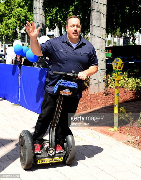 Kevin James Receives Star on Miami Walk of Fame while promoting Paul Blart Mall Cop 2 at Bayside Marketplace on April 1 2015 in Miami Florida