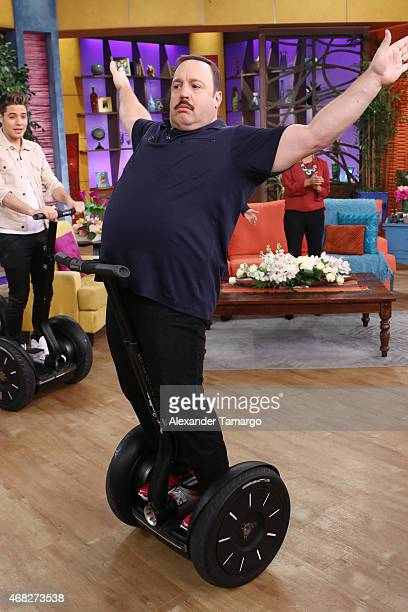 Kevin James visits the set of Univision's morning show 'Despierta America' to promote his film 'Paul Blart Mall Cop 2' at Univision Studios on April...