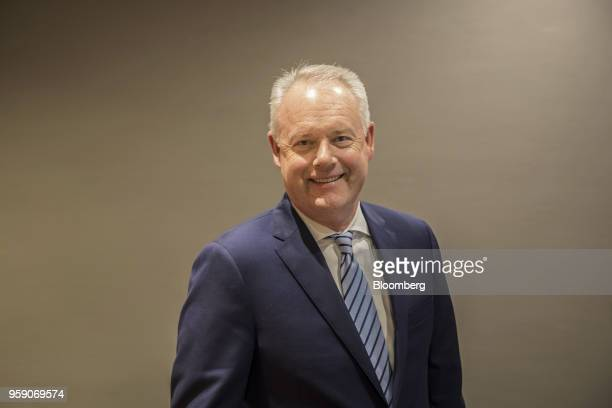Kevin Johnson chief executive officer of Starbucks Corp poses for a photograph in Shanghai China on Tuesday May 15 2018 Starbucksis laying out an...