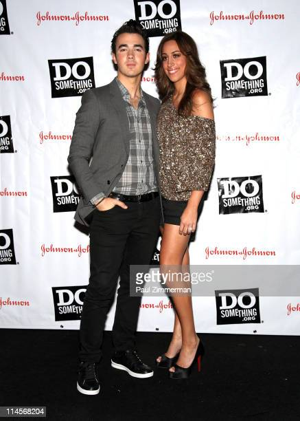 Kevin Jonas and Danielle Deleasa attend the 2011 Do Something Awards kickoff event at BB King Blues Club Grill on May 23 2011 in New York City