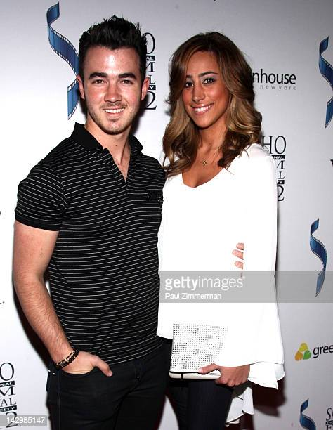Kevin Jonas and Danielle Deleasa attend the Forgetting The Girl premiere during the 2012 Soho International Film festival at Landmark Sunshine Cinema...