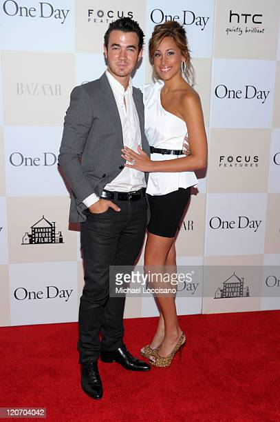 Kevin Jonas and Danielle Deleasa attend the One Day premiere at the AMC Loews Lincoln Square 13 theater on August 8 2011 in New York City
