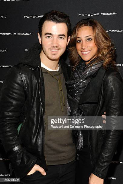 Kevin Jonas and Danielle Deleasa attends Porsche Design SoHo Store Launch and Preview Of Fall/Winter 2012 Collection on February 15 2012 in New York...