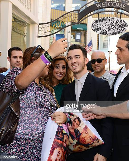 Kevin Jonas and Danielle Jonas are sighted at The Grove on August 16 2012 in Los Angeles California