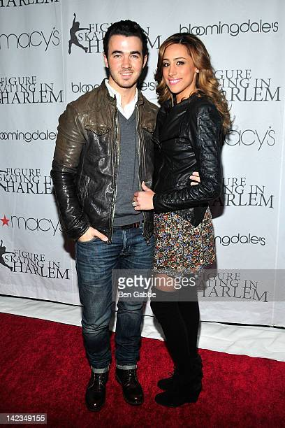 Kevin Jonas and Danielle Jonas attend the 2012 Skating with the Stars gala at theWollman Rink Central Park on April 2 2012 in New York City