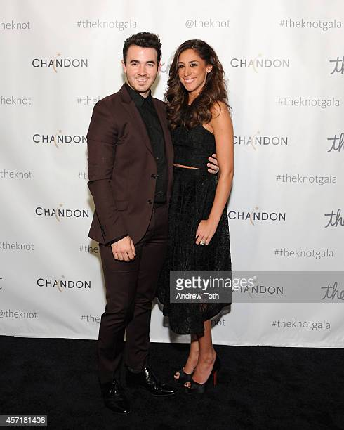 Kevin Jonas and Danielle Jonas attend the 5th Anniversary Of The Knot Gala at New York Public Library on October 13 2014 in New York City