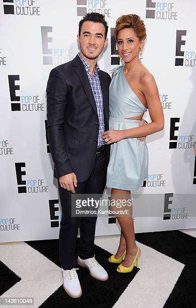Kevin Jonas and Danielle Jonas of Married To Jonas attend E 2012 Upfront at NYC Gotham Hall on April 30 2012 in New York City