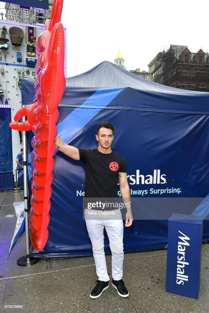 Kevin Jonas and Marshalls celebrate Father's Day at Flatiron Plaza on June 13, 2018 in New York City.