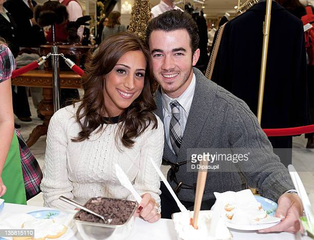 Kevin Jonas and wife Danielle Deleasa attend the 6th annual Brooks Brothers holiday celebration to benefit St Jude Children's Research Hospital at...