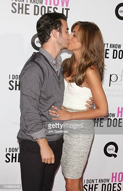 Kevin Jonas and wife Danielle Deleasa attend The Weinstein Company The Cinema Society With QVC Palladium premiere of I Don't Know How She Does It at...