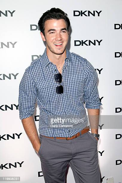 Kevin Jonas attends the DKNY Sunglass Soiree at The Beach at Dream Downtown on July 26 2011 in New York City