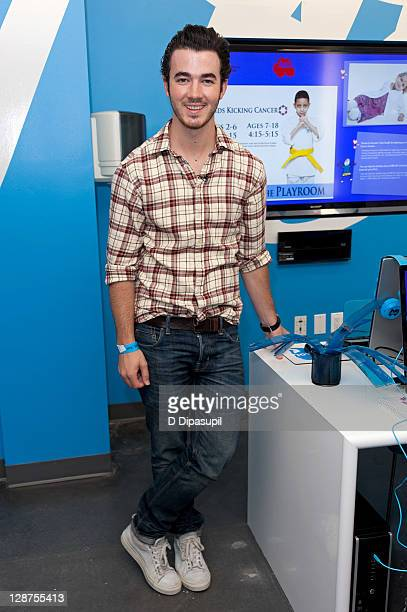Kevin Jonas attends the unveiling of the AOL media room at the Ronald McDonald House on October 7 2011 in New York City