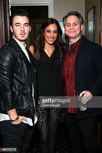 Kevin Jonas Danielle Deleasa and Jason Binn attend as Jason Binn Nicole Vecchiarelli And Kevin Ryan Celebrate DuJour Magazine's Special Gamechangers...
