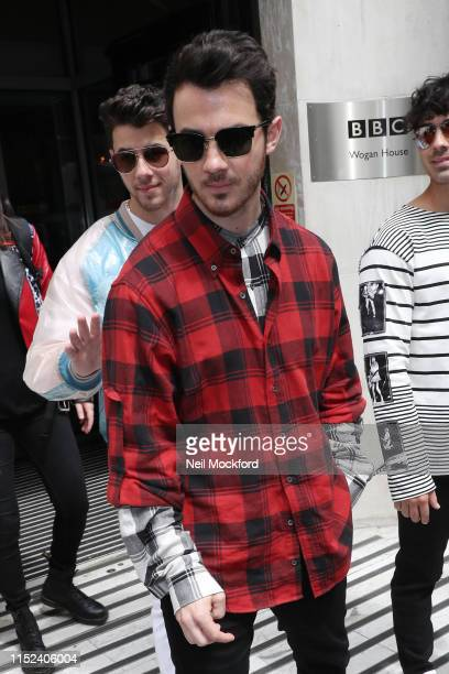 Kevin Jonas from The Jonas Brothers at BBC Radio 2 on May 29 2019 in London England