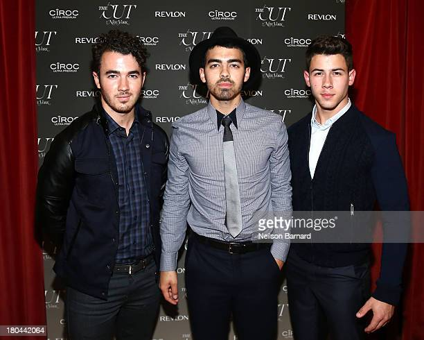 Kevin Jonas Joe Jonas and Nick Jonas attend The Cut and New York Magazine's Fashion Week Party with Revlon and Ciroc at Gramercy Terrace at The...