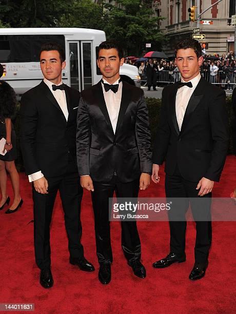 Kevin Jonas Joe Jonas and Nick Jonas attend the 'Schiaparelli And Prada Impossible Conversations' Costume Institute Gala at the Metropolitan Museum...