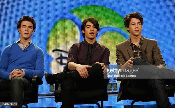 Kevin Jonas, Joe Jonas and Nick Jonas of The Jonas Brothers of the television show 'Jonas' attend the Disney/ABC Television Group portion of the 2009...