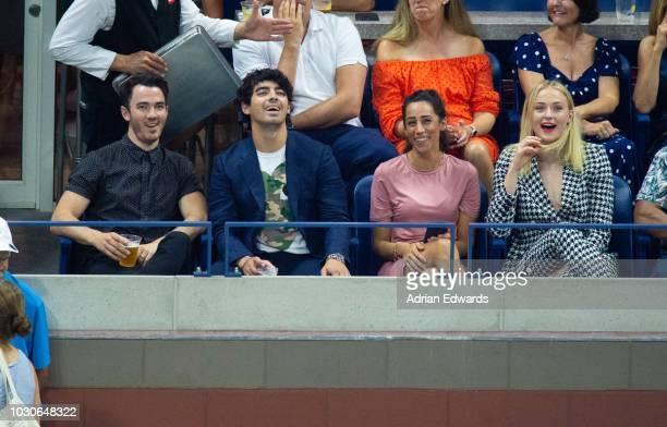 Kevin Jonas Joe Jonas Danielle Jonas Sophie Turner at Day 8 of the US Open held at the USTA Tennis Center on September 3 2018 in New York City