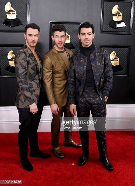 Kevin Jonas Nick Jonas and Joe Jonas attend the 62nd Annual GRAMMY Awards at Staples Center on January 26 2020 in Los Angeles California