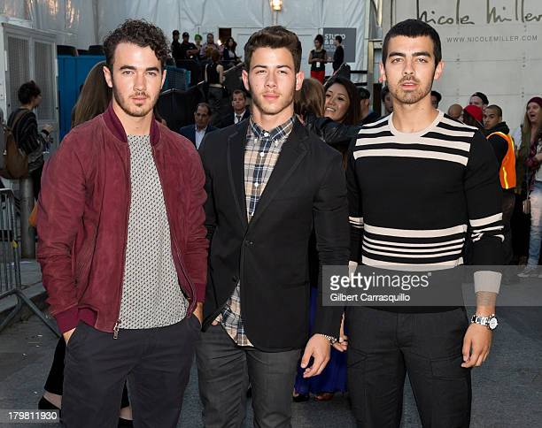 Kevin Jonas Nick Jonas and Joe Jonas of Jonas Brothers attends 2014 MercedesBenz Fashion Week during day 2 on September 6 2013 in New York City