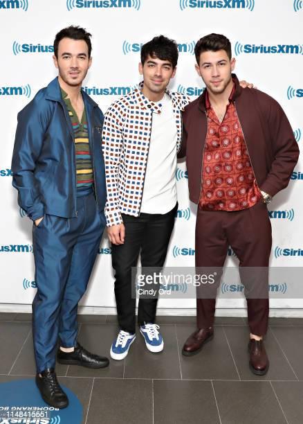 Kevin Jonas Nick Jonas and Joe Jonas of Jonas Brothers visit SiriusXM Hits 1 at the SiriusXM Studios on June 6 2019 in New York City