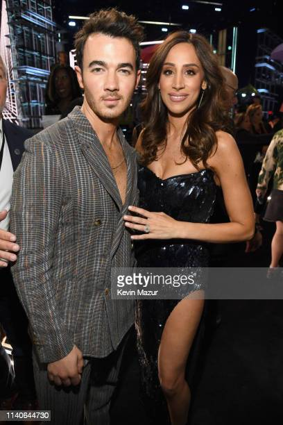 Kevin Jonas of Jonas Brothers and Danielle Jonas attend the 2019 Billboard Music Awards at MGM Grand Garden Arena on May 1 2019 in Las Vegas Nevada