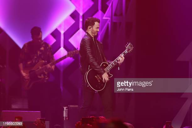Kevin Jonas performs on stage during Y100's Jingle Ball 2019 Presented by Capital One at BB&T Center on December 22, 2019 in Sunrise, Florida.