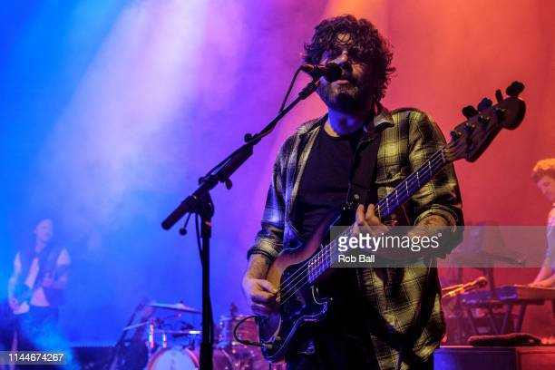 Kevin Jones from Bear's Den performs on stage at O2 Shepherd's Bush Empire on April 23 2019 in London England