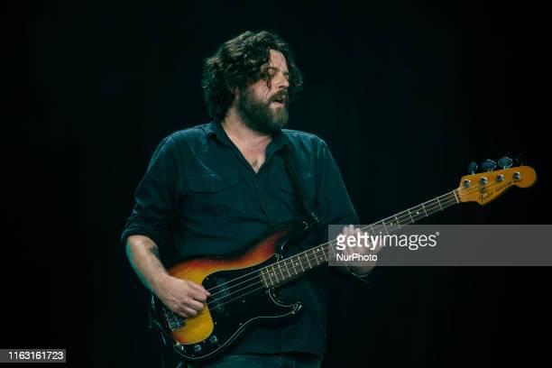 Kevin Jones of The british folk band Bear's Den performing live at Lowlands Festival 2019 on 18 August 2019 in Biddinghuizen Netherlands