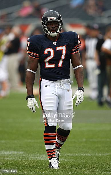 Kevin Jones of the Chicago Bears participates in warmups before a game against the San Francisco 49ers on August 21 2008 at Soldier Field in Chicago...
