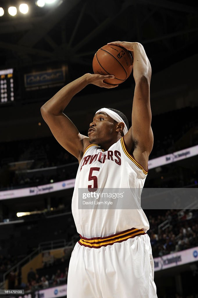Kevin Jones #5 of the Cleveland Cavaliers shoots the ball against the Charlotte Bobcats at The Quicken Loans Arena on February 6, 2013 in Cleveland, Ohio.