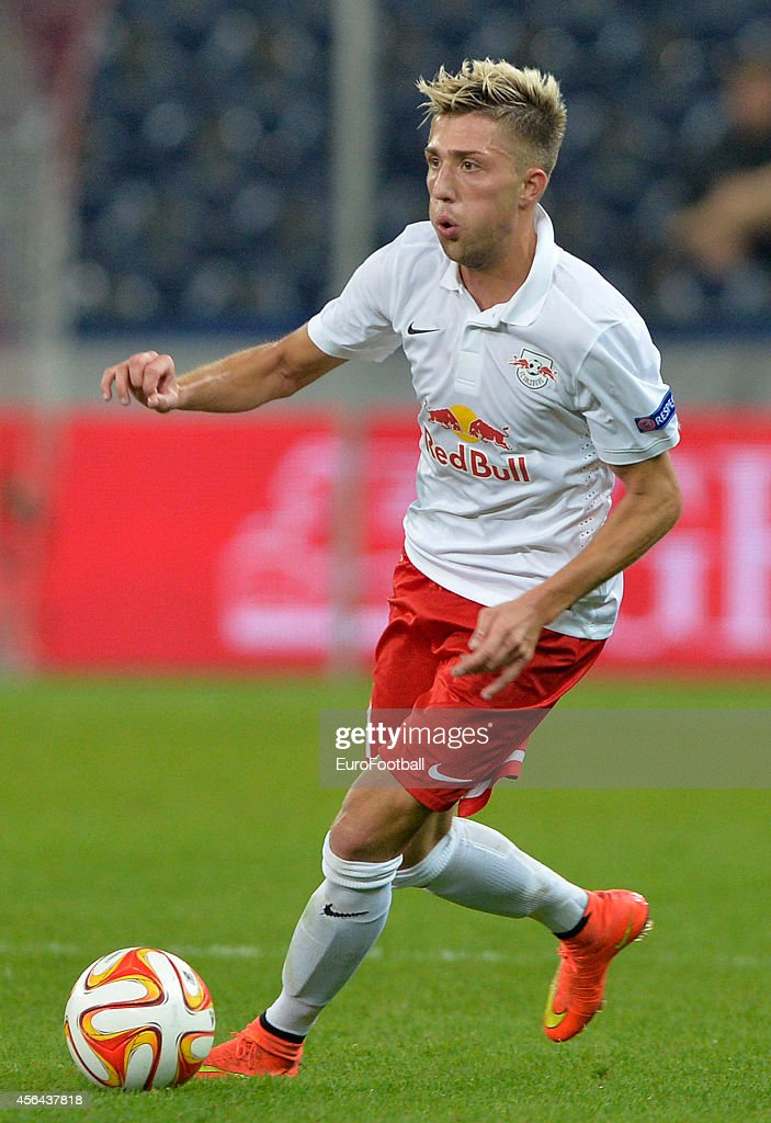 Kevin Kampl of FC Salzburg in action during the UEFA Europa League Group D match between FC Salzburg and Celtic FC on September 18, 2014 in Salzburg,Austria.