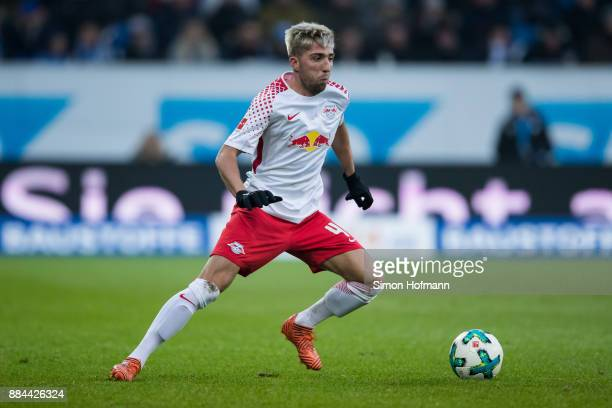 Kevin Kampl of Leipzig controls the ball during the Bundesliga match between TSG 1899 Hoffenheim and RB Leipzig at Wirsol RheinNeckarArena on...