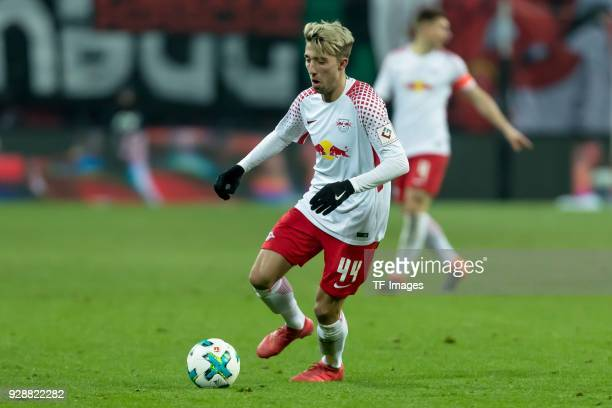 Kevin Kampl of Leipzig controls the ball during the Bundesliga match between RB Leipzig and Borussia Dortmund at Red Bull Arena on March 3 2018 in...