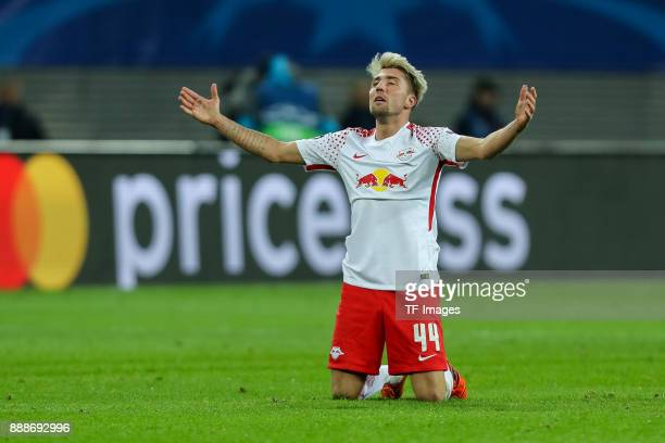 Kevin Kampl of Leipzig gestures during the UEFA Champions League group G soccer match between RB Leipzig and Besiktas at the Leipzig Arena in Leipzig...