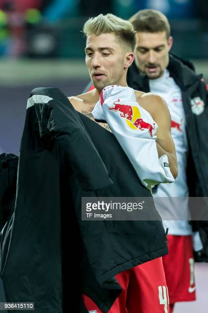 Kevin Kampl of Leipzig looks on after the Bundesliga match between RB Leipzig and FC Bayern Muenchen at Red Bull Arena on March 18 2018 in Leipzig...