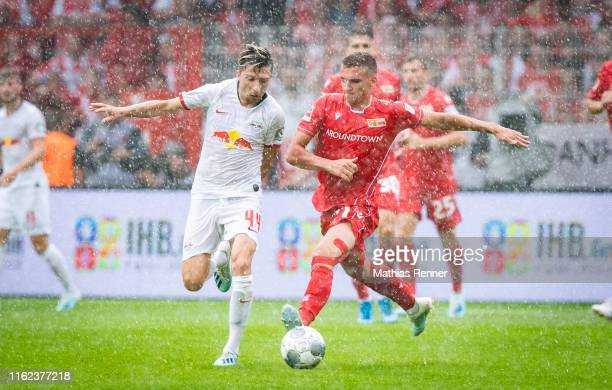 Kevin Kampl of RB Leipzig and Grischa Proemel of 1FC Union Berlin during the bundesliga match between FC Union Berlin against RB Leipzig at Stadion...