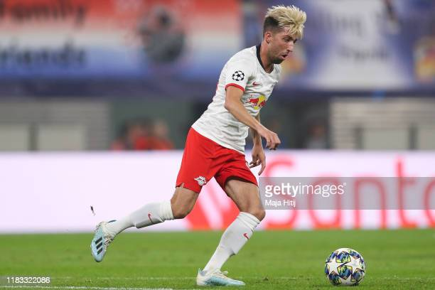 Kevin Kampl of RB Leipzig controls the ball during the UEFA Champions League group G match between RB Leipzig and Zenit St Petersburg at Red Bull...