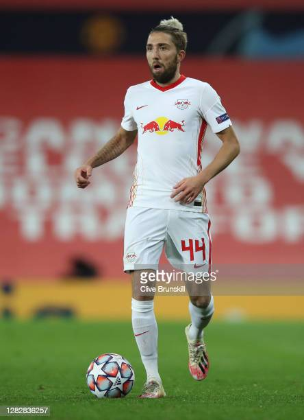 Kevin Kampl of RB Leipzig in action during the UEFA Champions League Group H stage match between Manchester United and RB Leipzig at Old Trafford on...